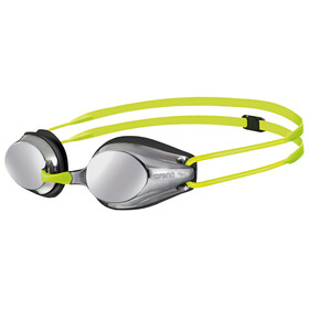 arena Tracks Mirror Goggles Juniors silver-black-fluoyellow